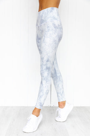 Sustainable High Rise Midi Legging - Air - PURE DASH