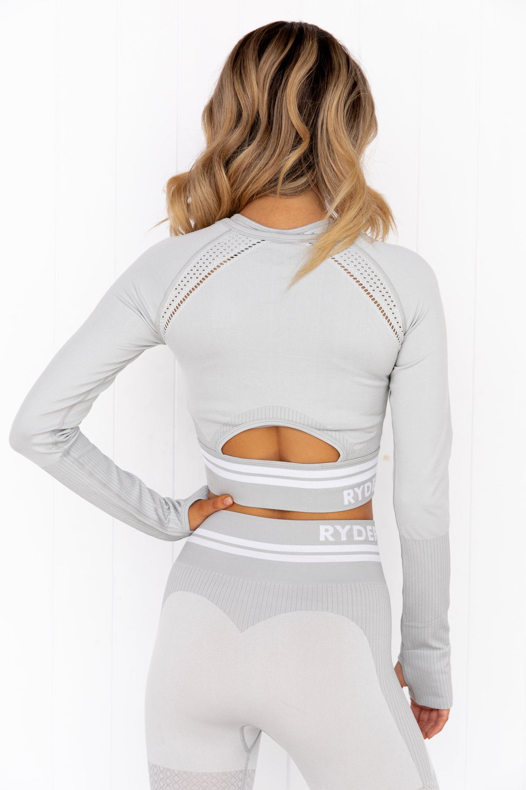 Freestyle Seamless Long Sleeve Crop - Grey - PURE DASH