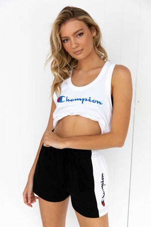 Champion Logo Tank - White