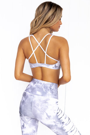 Mudra Bra - Light Gray Tie Dye