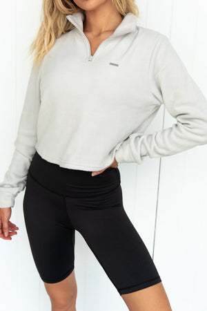 Cloud Fleece Long Sleeve Crop Top