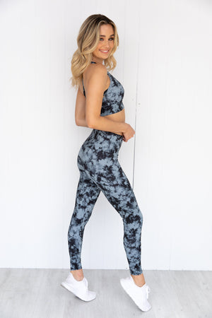 High Rise Midi Legging - Moonstone Acid Wash