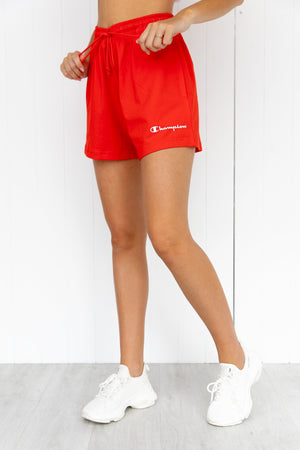 Jersey High Waist Short - Red