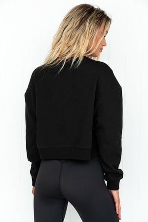 Baseline Cropped Sweater - Black back view