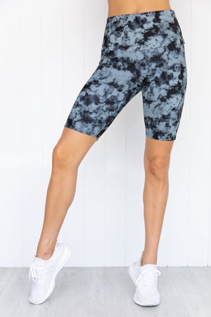 High Rise Bike Short - Moonstone Acid Wash