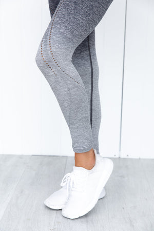 Fleurieu Seamless 7/8 Legging - Charcoal