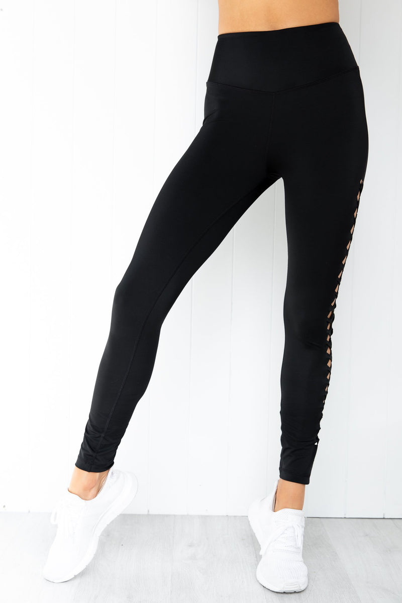 Energise Braided Legging - Black
