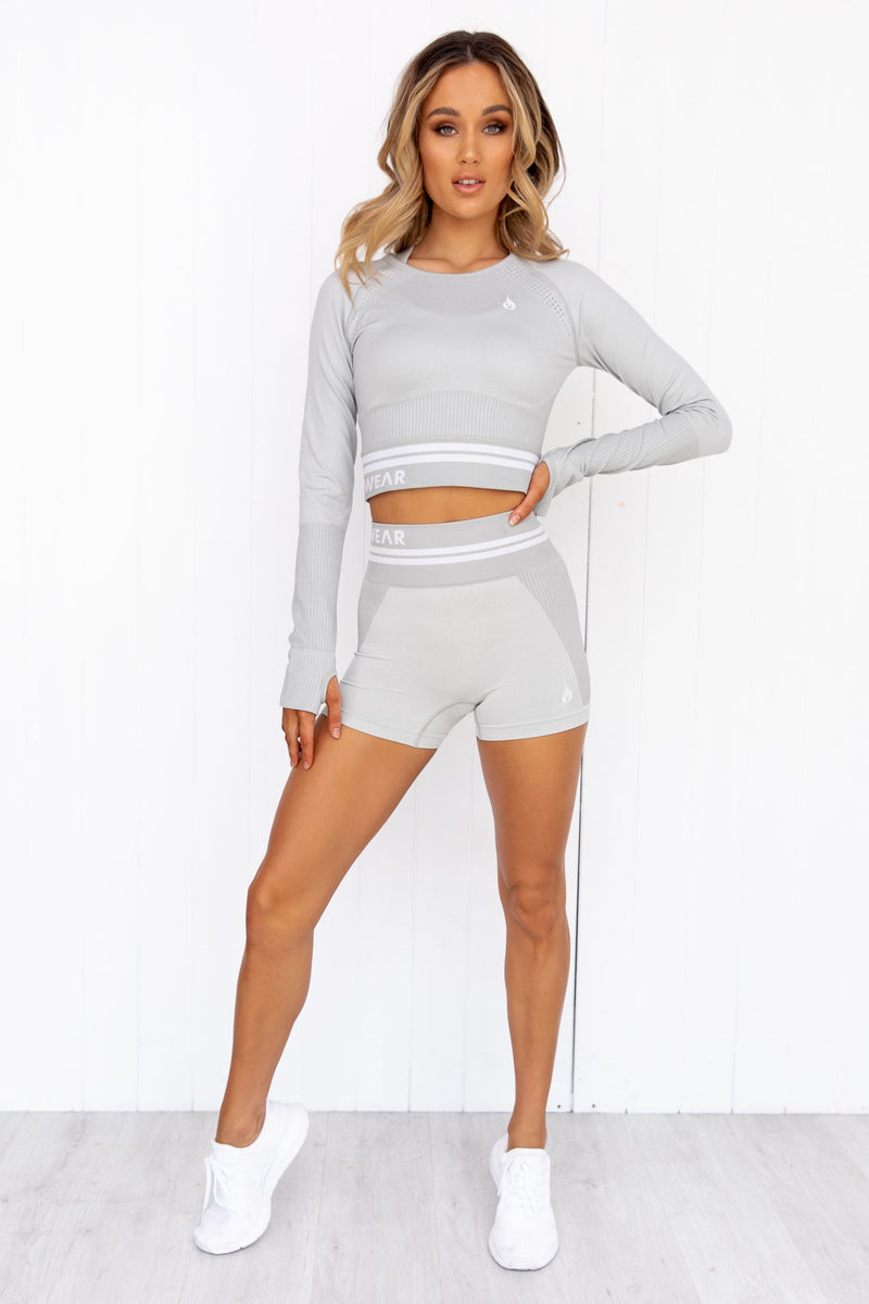 Freestyle Seamless High Waisted Shorts - Grey - PURE DASH