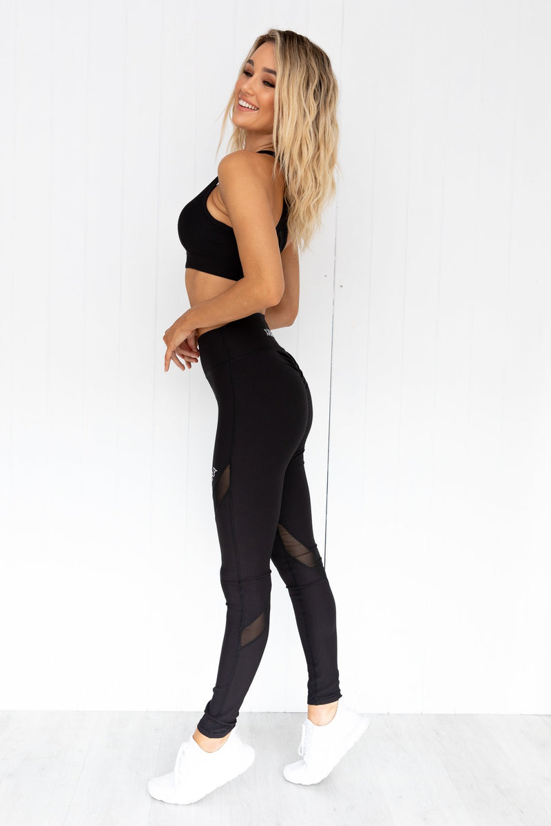 Bootylicious Black Ribbed Leggings