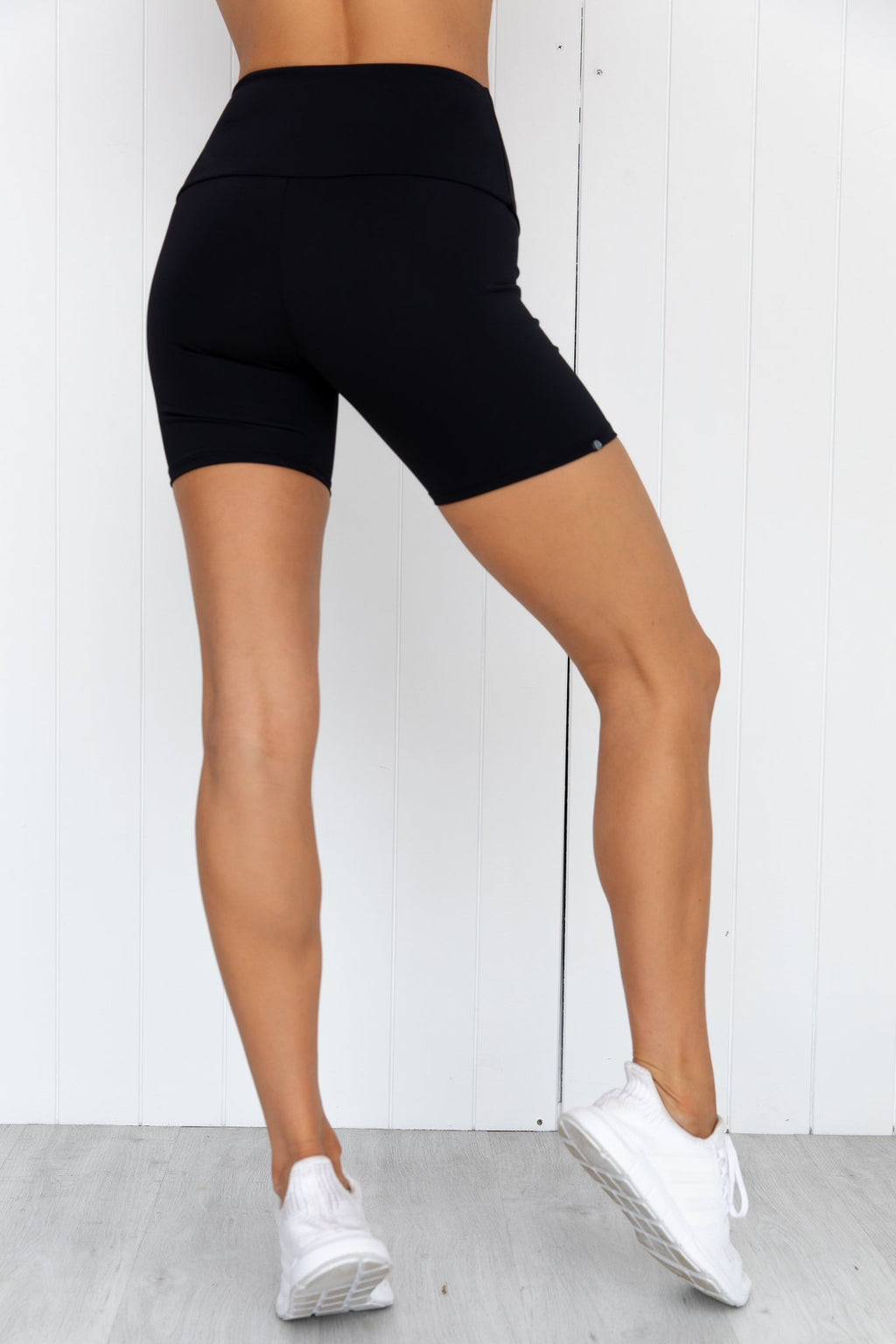 High Rise Mini Bike Short - Black