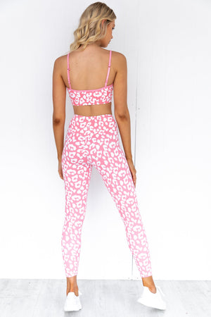 Animal Sports Bra - Pink Leopard