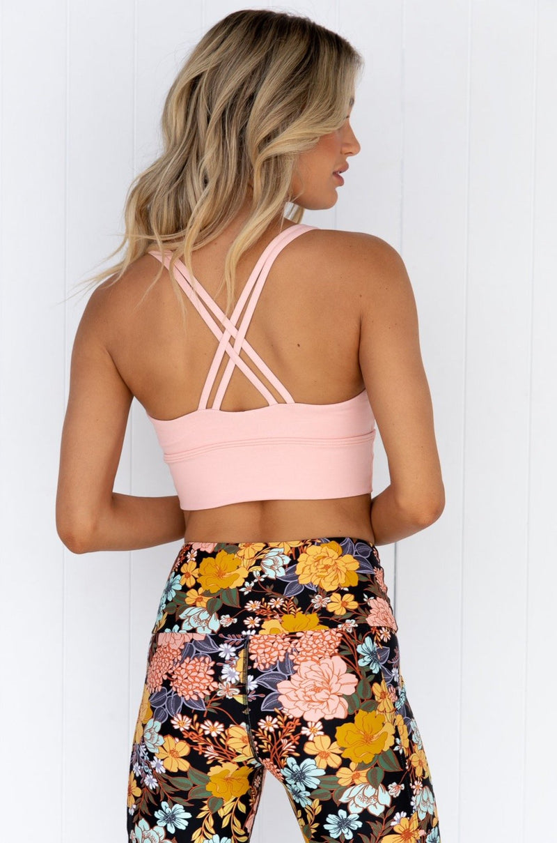 Lotus Crop Top - Peach Marle