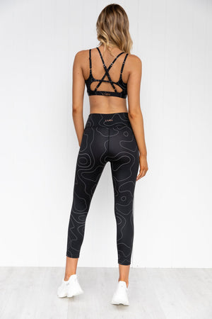 Woodland 7/8 Leggings - Black | Pure Dash
