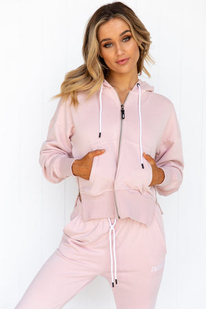 Core Zip Hoodie - Dusty Pink - PURE DASH