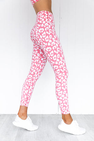 Instincts Scrunch Bum Leggings - Pink Leopard