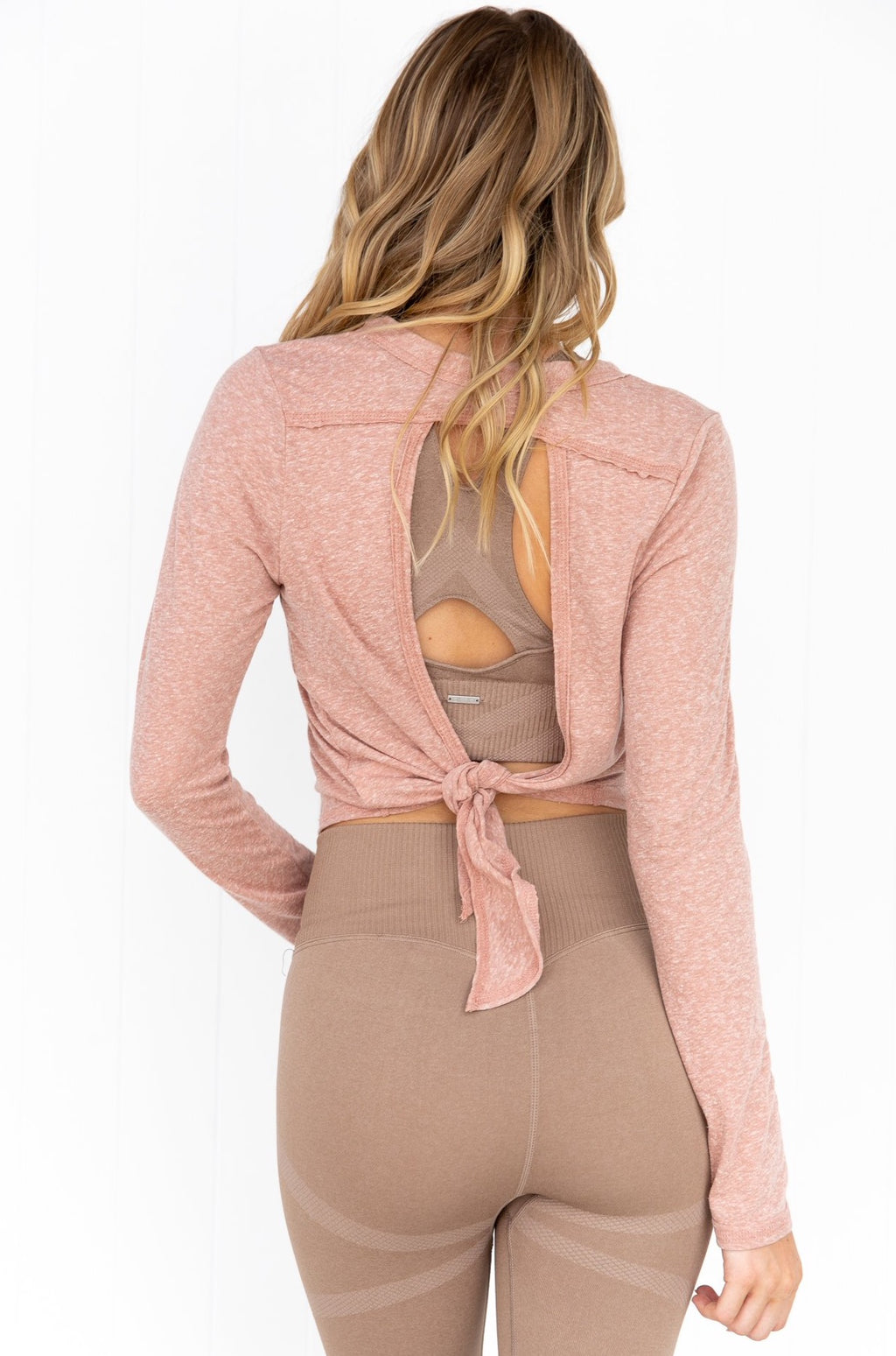 Vintage Tie Back Long Sleeve - Fawn