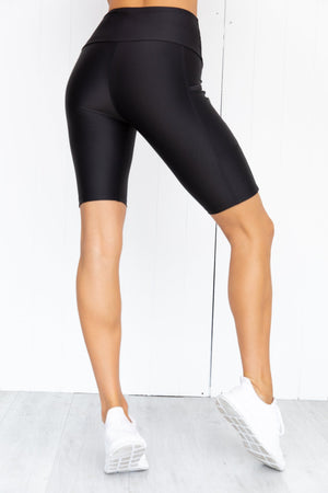 Running Bare Power Moves Bike Shorts with side pockets - back