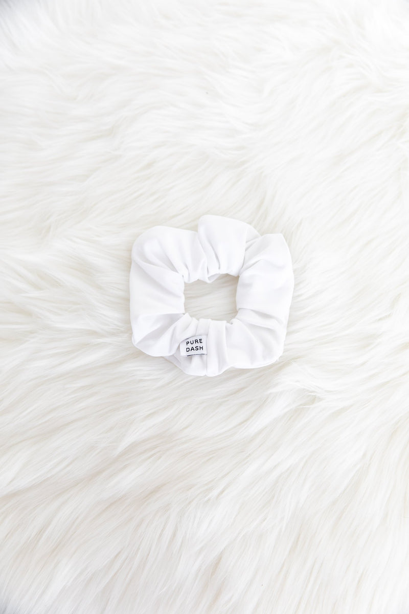 Pure Dash Scrunchie - White