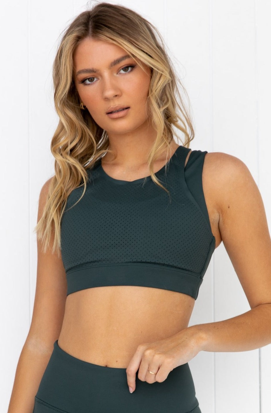 Amber Crop - Smoke Green