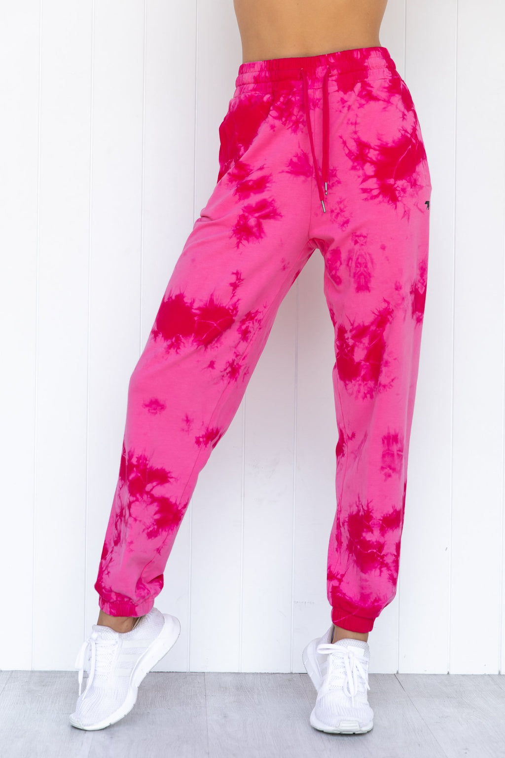Lounging Sweatpants - Rosa Crumple Tie Dye