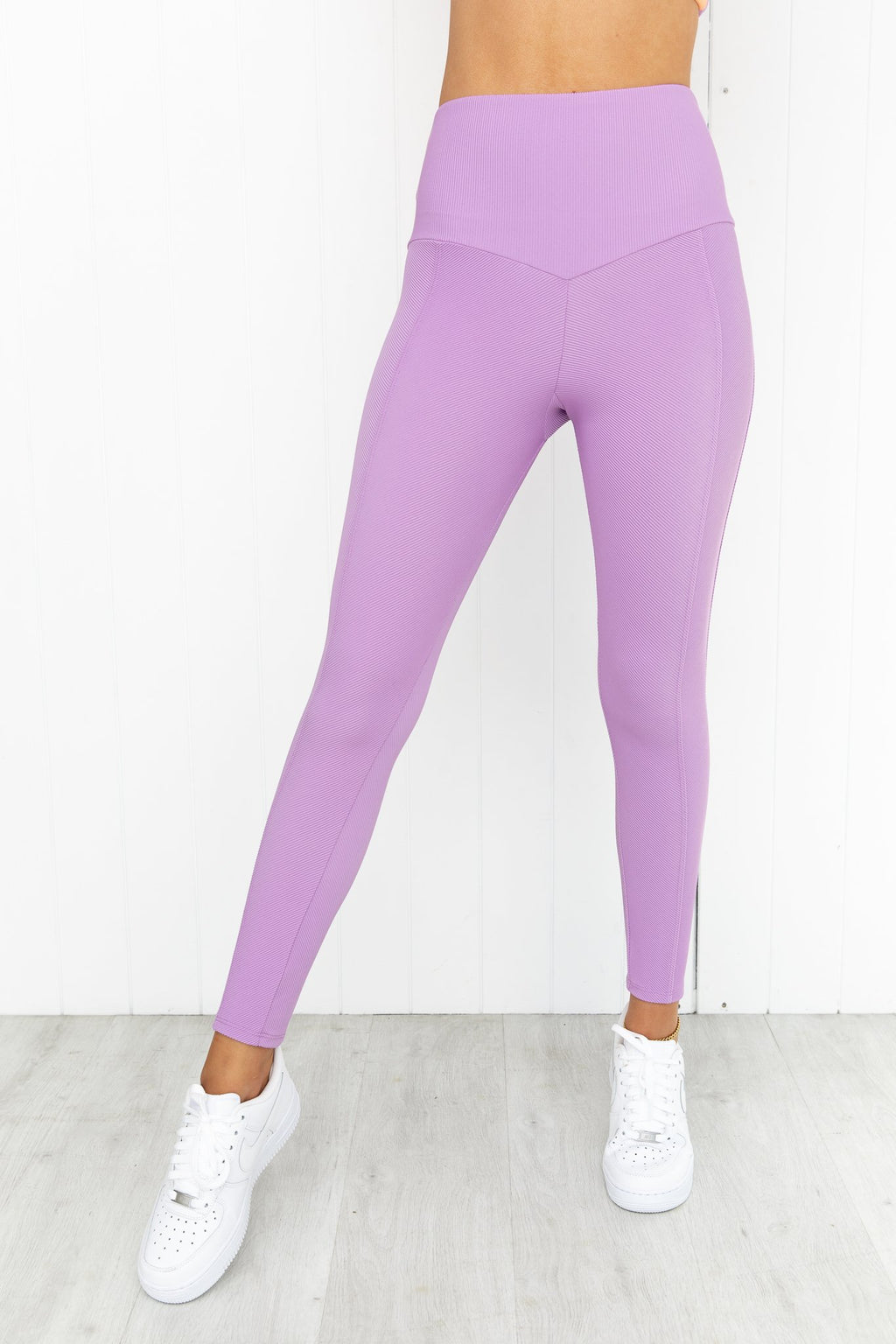 Sweetheart Rib Midi Leggings - Spring Fairy