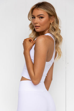 Cosmos Seamless Midi - White | Pure Dash