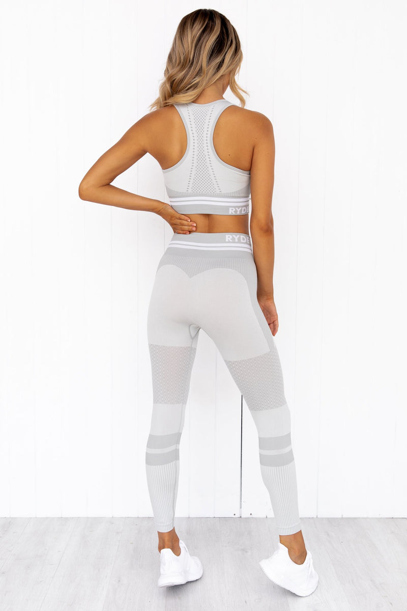 Freestyle Seamless Longline Sports Bra - Grey - PURE DASH