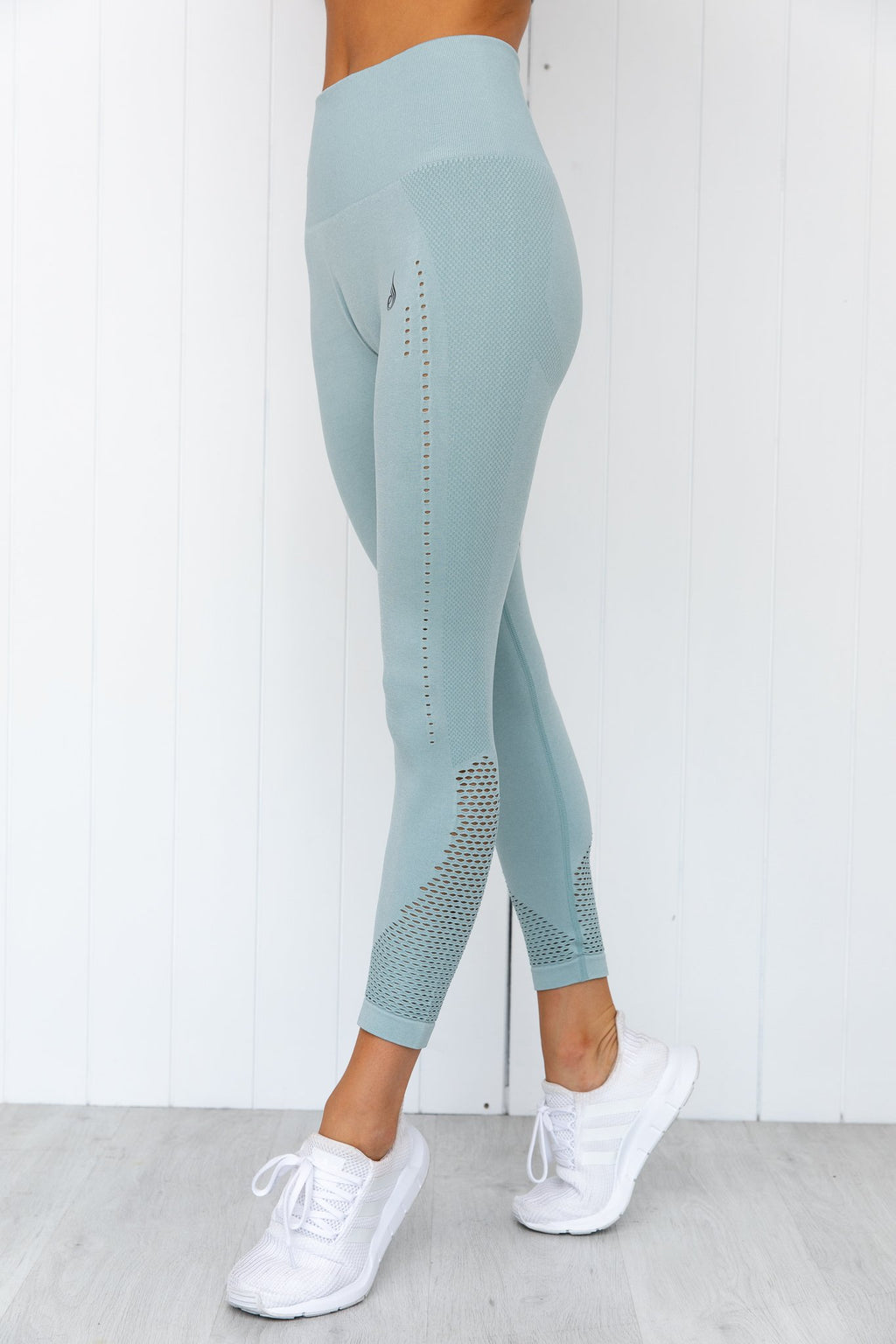 Seamless Staples Leggings - Seafoam Marl