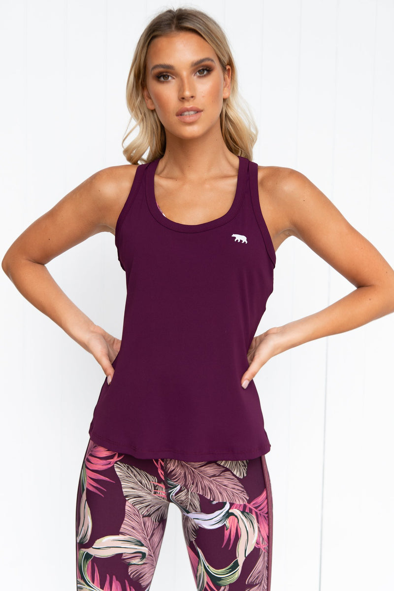 Walkout Workout Tank - Mulberry - PURE DASH