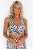 Snow Leopard Knockout Sports Bra - PURE DASH