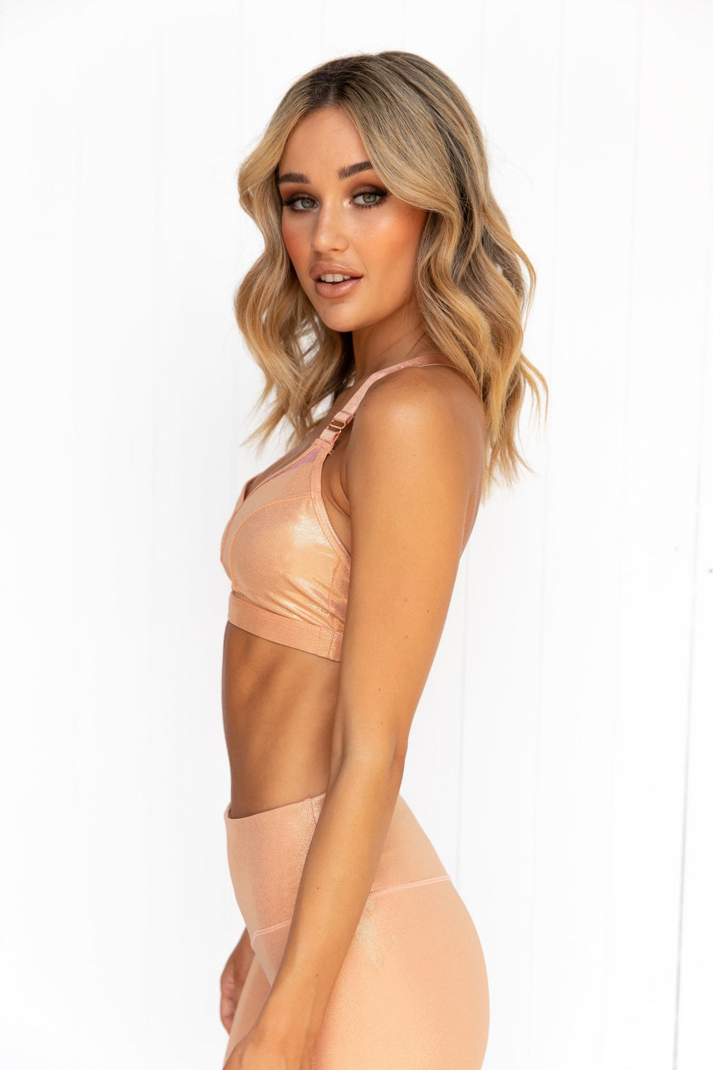 Enchanted Shimmer Bralette - Apricot - PURE DASH