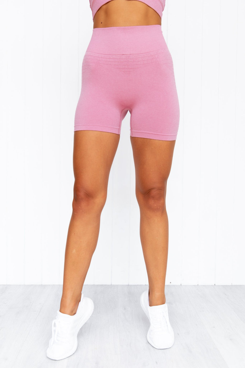 Geo Seamless High Waisted Shorts - Pink - PURE DASH