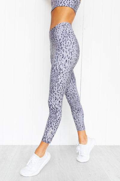 **RE-STOCKING SOON** Wild Leopard Ankle Biter Tights - Grey Leopard - PURE DASH