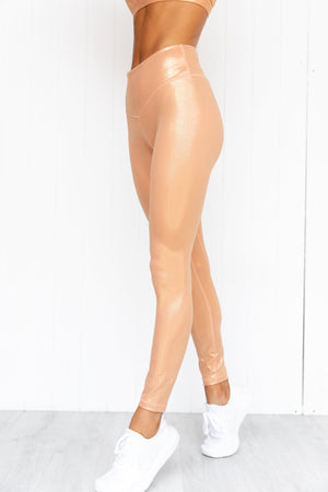 Enchanted Shimmer Legging - Apricot - PURE DASH