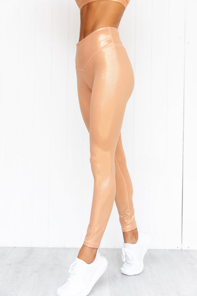 Enchanted Shimmer Legging - Apricot