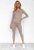 Latte Ribbed Seamless Long Sleeve - PURE DASH