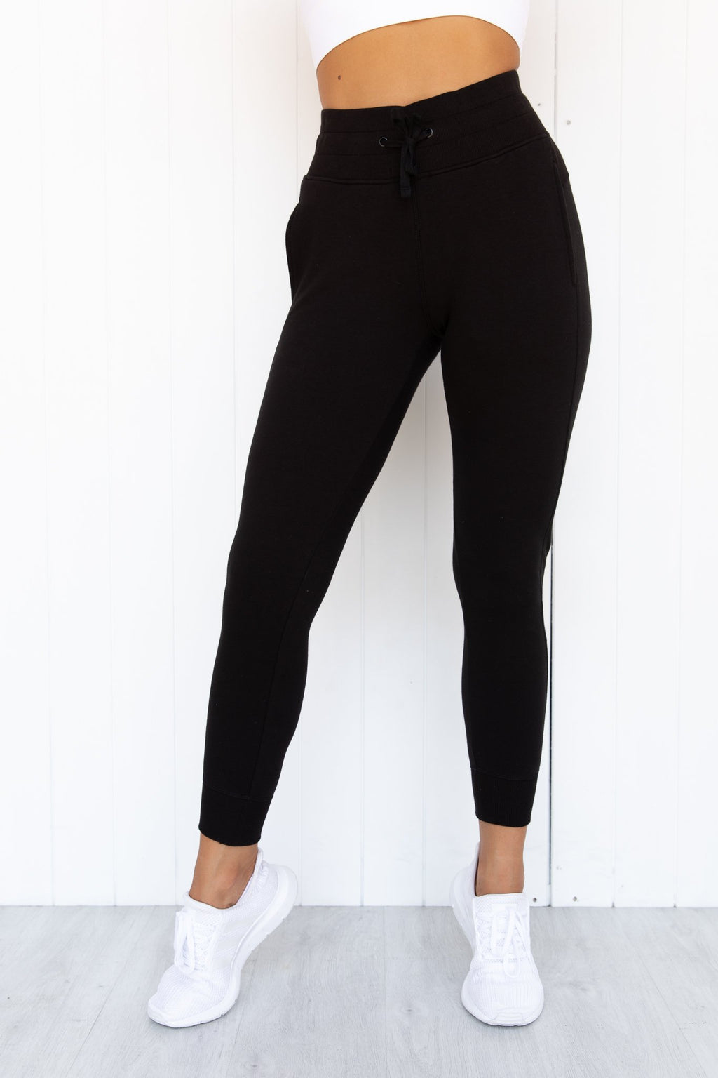 Gia Tarmac Black Stretch French Terry Jogger - PURE DASH