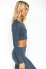 Ocean Washed Ribbed Seamless Long Sleeve