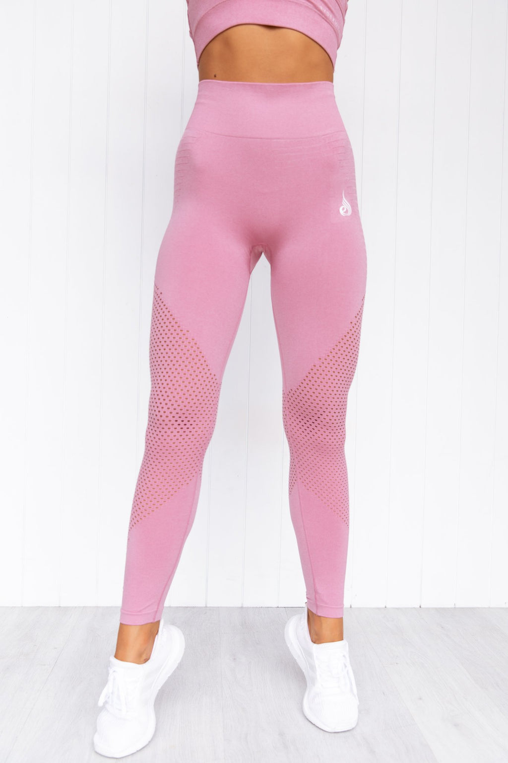 Geo Seamless High Waisted Leggings - Pink - PURE DASH