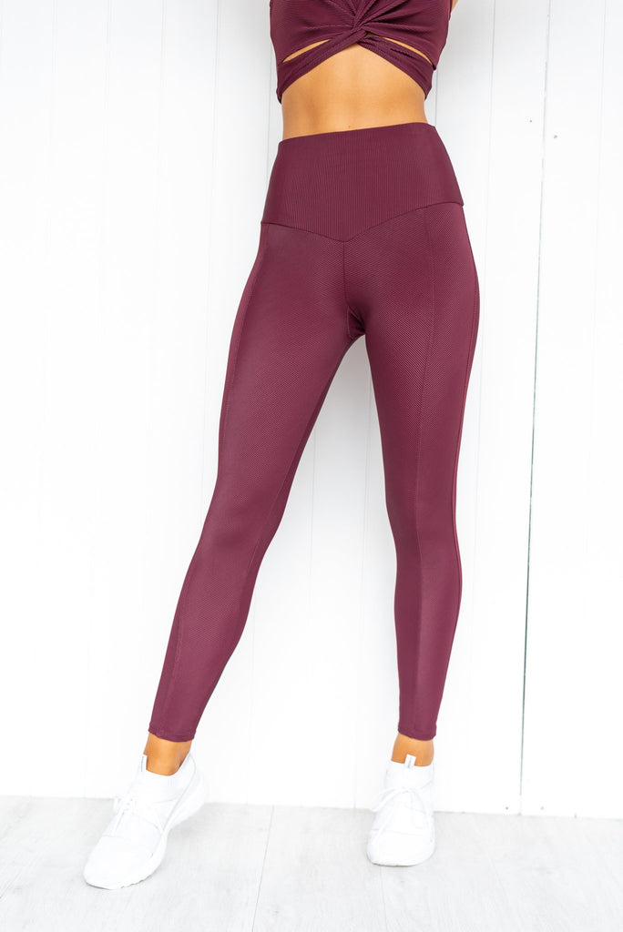 Sweetheart Midi Leggings - Fig