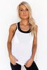 Get Twisted Tank - White