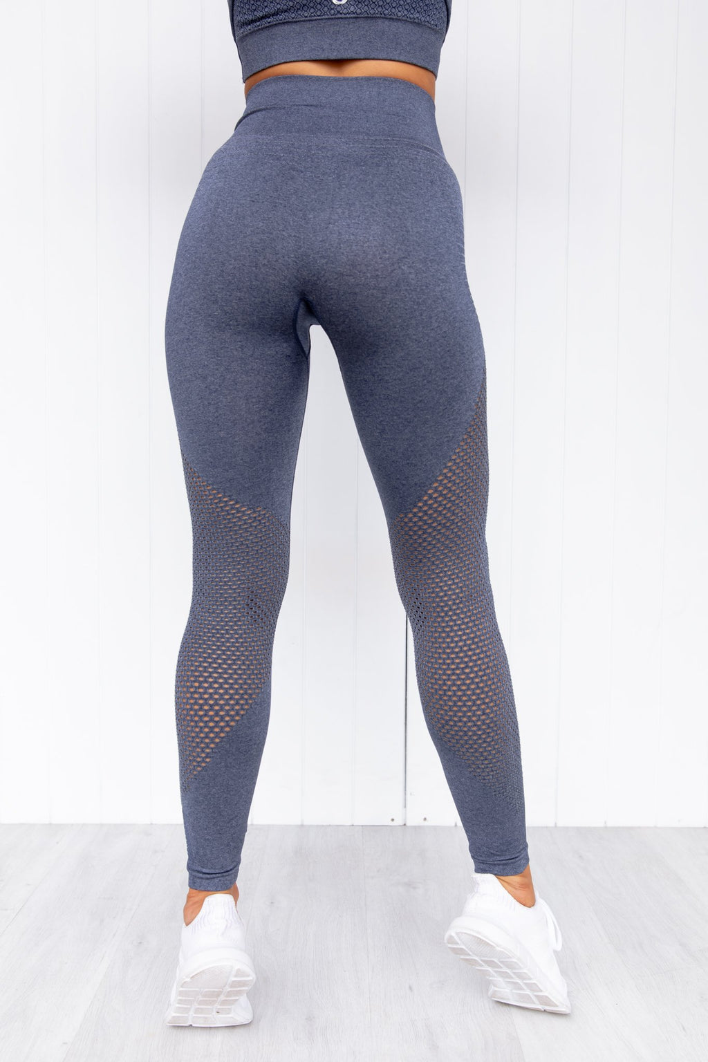 Geo Seamless High Waisted Leggings - Navy - PURE DASH