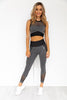 Oasis Seamless Crop Top - Black Marl