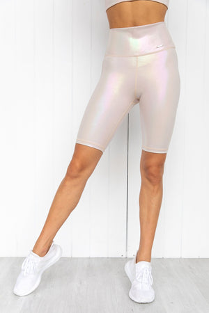 Cream Shine On Biker Shorts - PURE DASH
