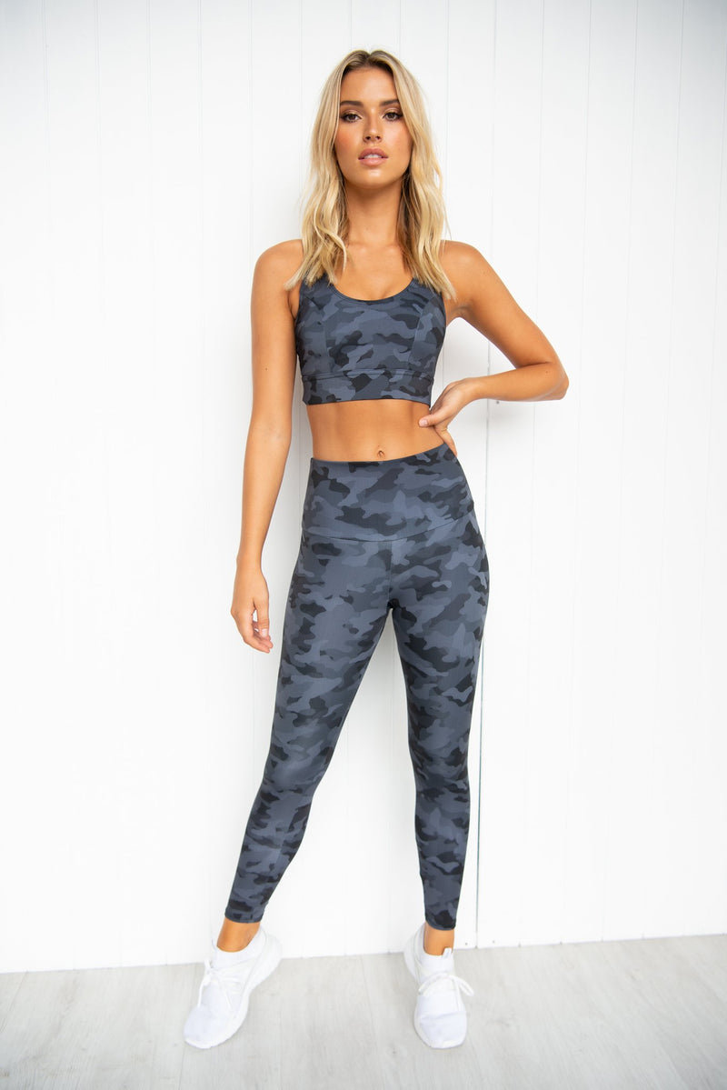 Warrior Bra - Black Gray Camo - PURE DASH