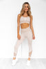 Oasis Seamless Sports Bra - Off White Sand