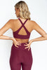 Onzie Burgundy Selenite Bra Back