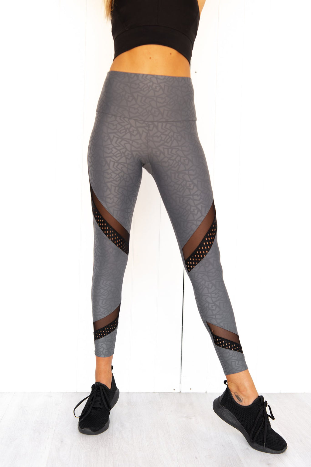 Grey Sporty Midi Legging - PURE DASH