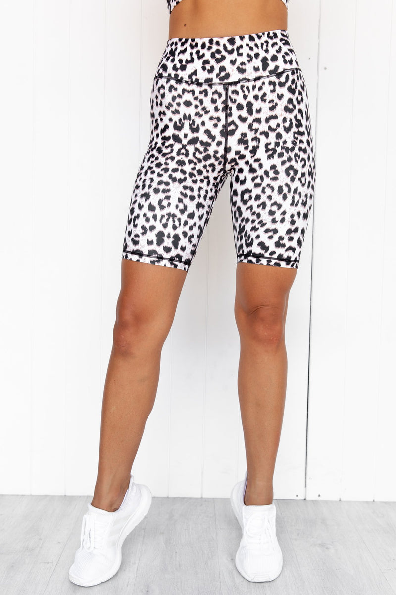 Bootylicious Snow Leopard Bike Short - PURE DASH