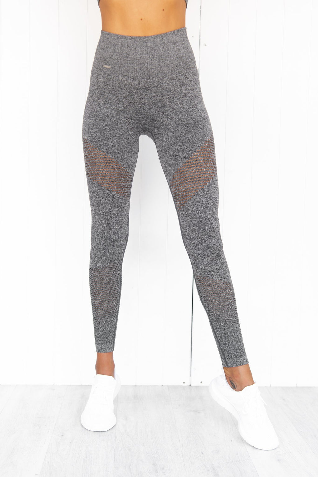 Grey Melange Boost Seamless Tights - PURE DASH